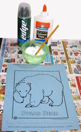 Polar Bear Craft using homemade puffy paint