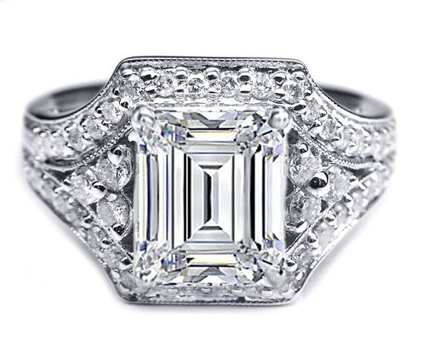 emerald cut ring settings without stones search
