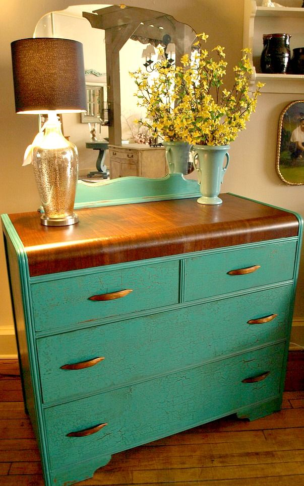 Best 25+ Waterfall dresser ideas on Pinterest | Turquoise painted ...