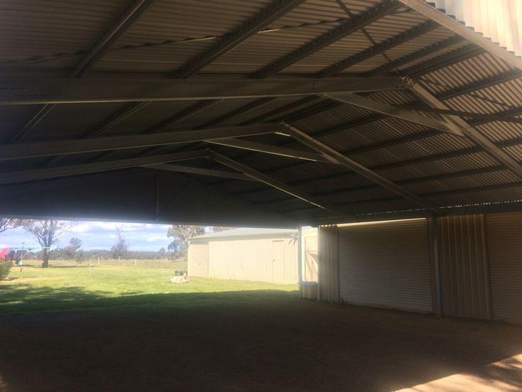 Ultraspan carport. 12m X 12m. Finished, view from inside. Built by Kieren Lee Plumbing & Construction 0428690696