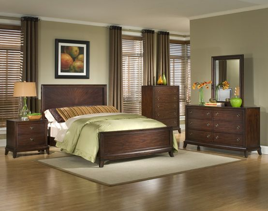 Bedroom paint scheme? I have darker furniture, like the way the green and dark woods pair.