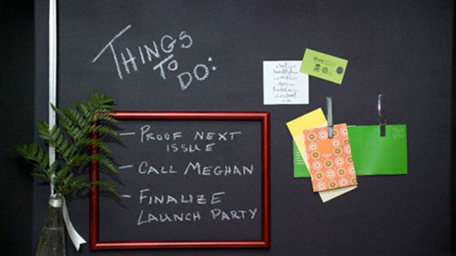 Cool idea! --> Combine Magnetic Primer and Chalkboard Paint for the Ultimate