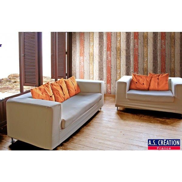 Papier peint Collection New England - Planches multicolores #wood  #wallpaper #deco http://www.papierspeintsdirect.com/papier-peint.html