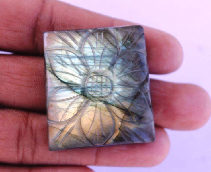 Labradorite Hand Carving Gemstone 125.9 CTS Wholesale Gemstone Cabochon Natural Gemstone for Wirewrapping DIY Ring Pendants Jewelry Supplies http://etsy.me/2ByeD9h #supplies #blue #birthday #christmas #cushion #beading #semipreciousgems #labradorite #labradoritestone
