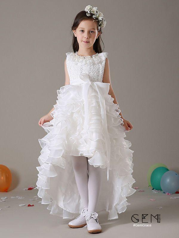 4a57a8c2d3cb Lovely high low flower girl dress
