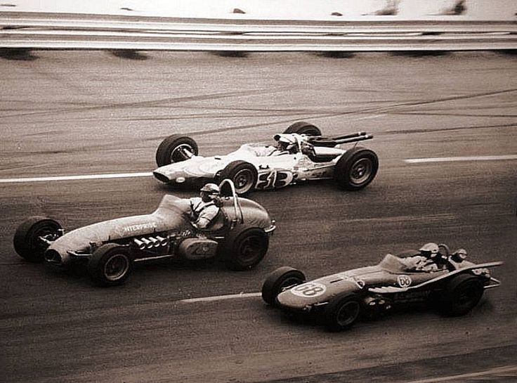 Maybe the last time you saw this....Atlanta 1965....A.J. high, Ronnie in Dirt Champ Car and Art Malone in a Watson Roadster.