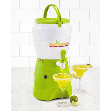 Nostalgia MSB600 1-Gallon Margarator Plus Margarita and Slush Maker, Green