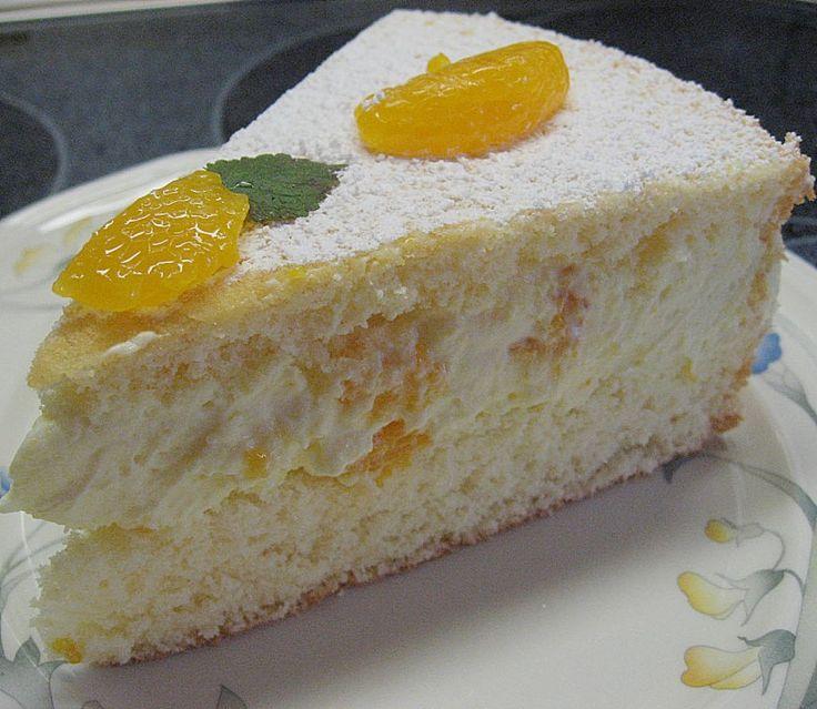 Mandarinen kuchen mit tortenboden