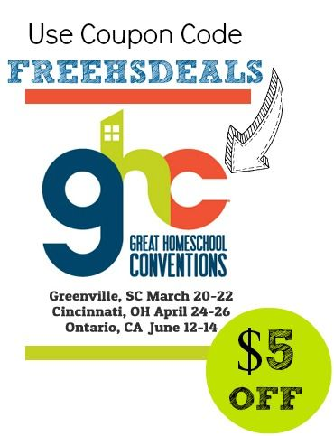 Exclusive Great Homeschool Convention Coupon Code for FHD Readers! @Great Homeschool Conventions: Free Homeschool, Ultimate Homeschool, Homeschool Convention, Homeschool Conferenceconv, Convention Giveaways, Homeschool Resources, Free Printable, Homeschool Help, Homeschool Encouragement