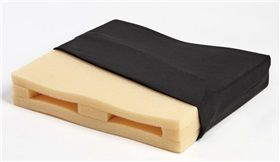 AliMed® QuickDry Wheelchair Cushions are made of lightweight reticulated foam with large pores that allow liquids to pass through, making it easier to wash and quicker to dry than standard foam. #patients #hospitals #clinics