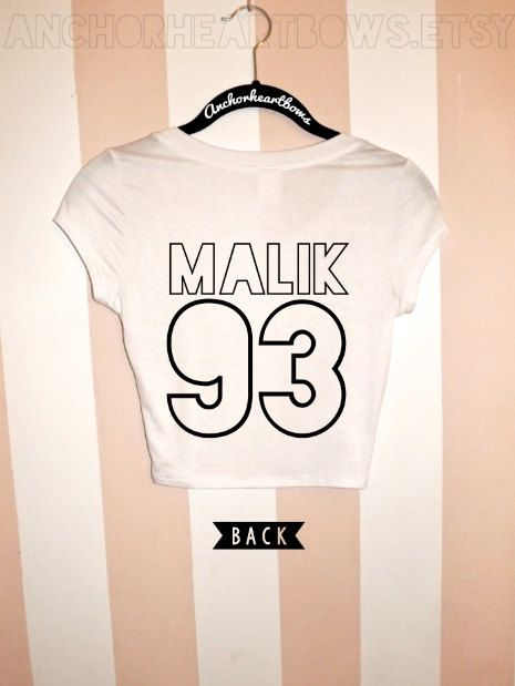 One Direction Zayn Malik Crop Top Shirt Jersey 1D 5SOS Janoskians on Etsy, $15.99