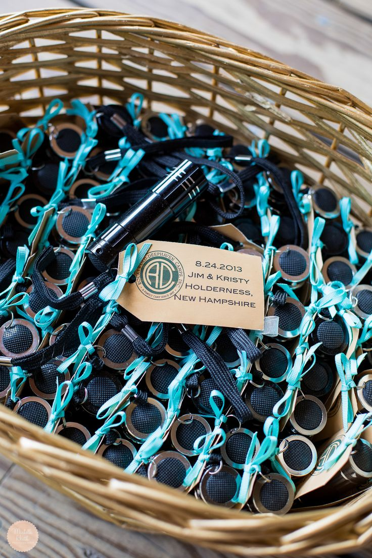 Michelle Heath Photography, Flashlight Favors, Rockywold-Deephaven Camp wedding, New Hampshire Wedding, Unique Wedding Favors