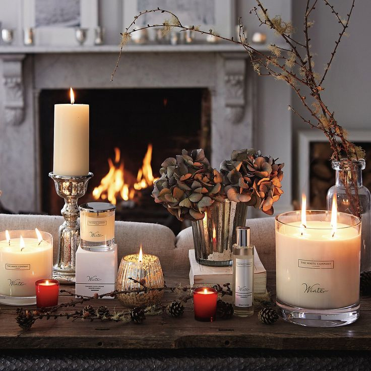 Winter Large Candle | The White Company. Shopping from the US? -> http://us.thewhitecompany.com/Candles-and-Fragrance/Candles/Winter-Large-Candle/p/WNDL7?swatch=No+Colour