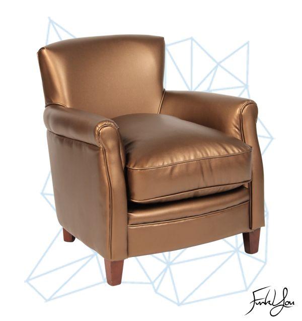 Cigar Lounge Chair - Dark Brass. www.funkyou.com.au