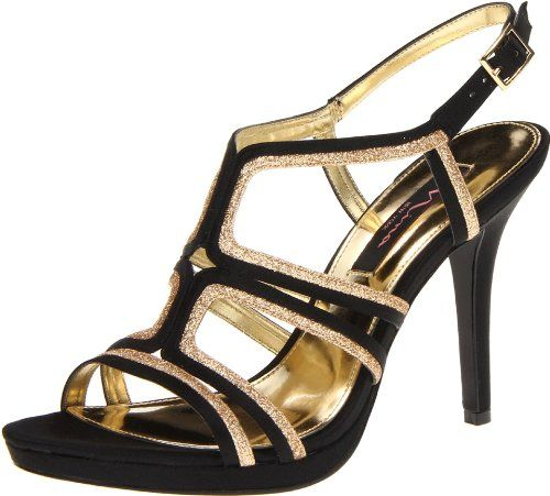 Nina mujer's Flirty-LS Dress Sandal,negro,9.5 M US