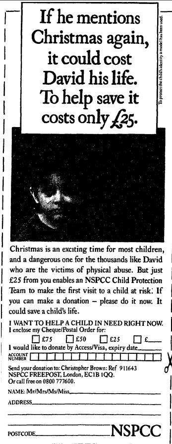 NSPCC. 15 December, 1990