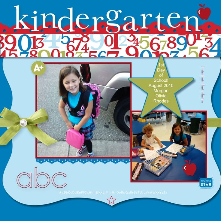 Stampin For Me: First Day of Kindergarten Scrapbook Page