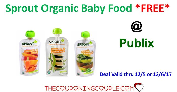 Sprout Organic Baby Food FREE @ Publix thru 12/5 or 12/6 with Unadvertised Sale and Printable Coupon. Don't miss out on this amazing sale!  Click the link below to get all of the details ► http://www.thecouponingcouple.com/sprout-organic-baby-food-free-publix/ #Coupons #Couponing #CouponCommunity  Visit us at http://www.thecouponingcouple.com for more great posts!