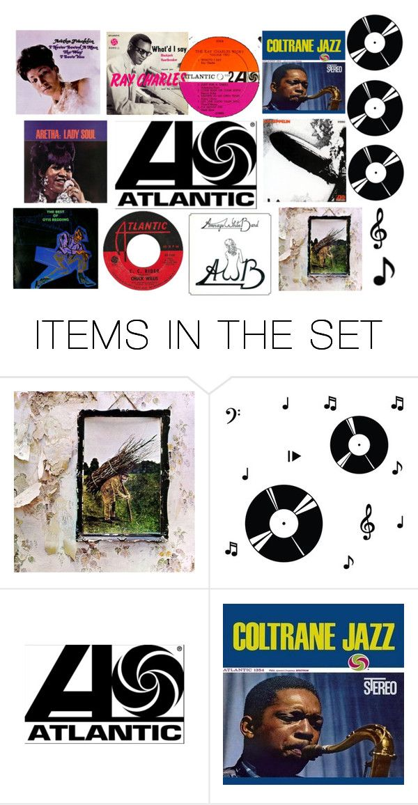 """""""I ❤️ Atlantic Records 🎼🎤🎷🎺🎸🎹🎵"""" by chrisiggy ❤ liked on Polyvore featuring art"""