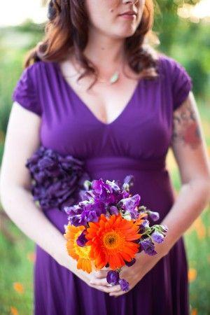 74 best Wedding - Purple & Orange images on Pinterest | Purple ...
