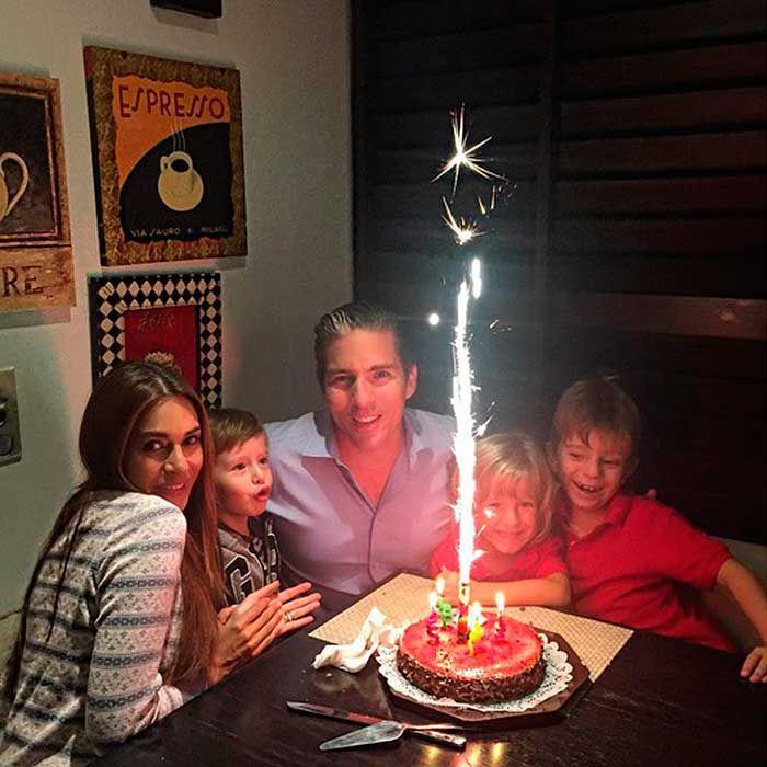 Galilea Montijo celebra el cumpleaños de Claudio, hijo de Fernando Reina