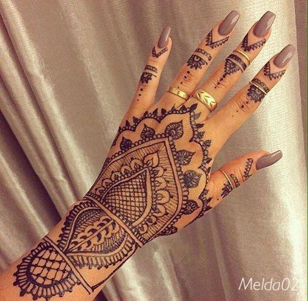 black, henna, nails, rings, tatoo, hennatatoo