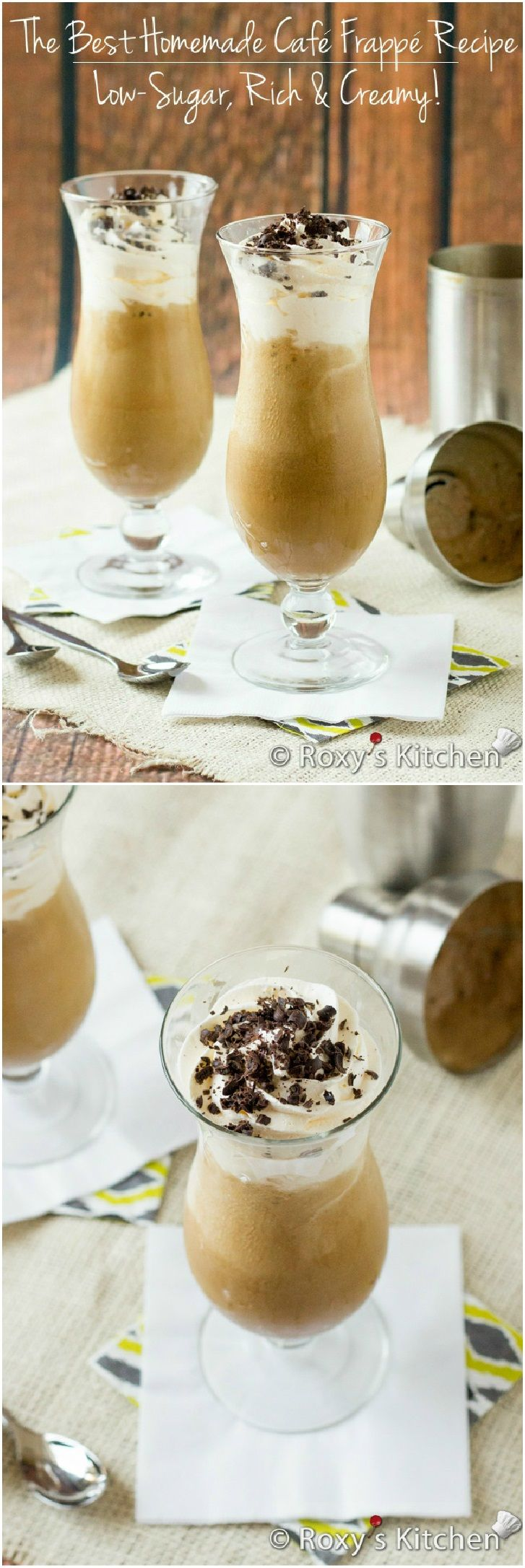 The Best Homemade Café Frappé Recipe – Low-Sugar, Rich & Creamy! | Roxy's Kitchen With five minutes and five ingredients you can make your own.
