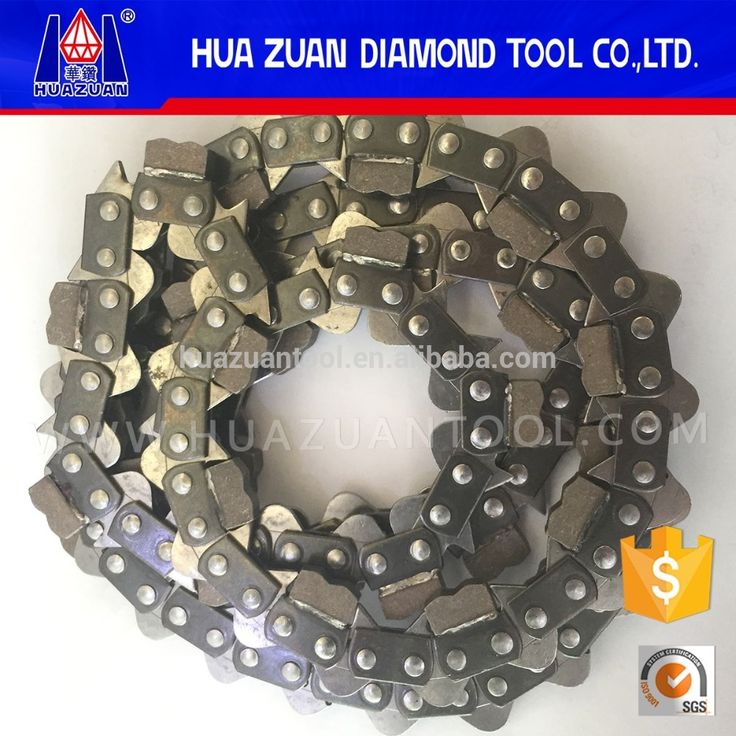 """Chinese gasoline chainsaw parts 3/8"""" pitch diamond chain saw for concrete brick wall cutting"""