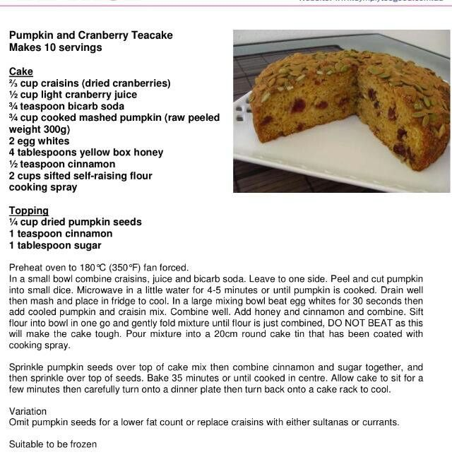 Pumpkin cranberry tea cake | Food ideas | Pinterest | Tea Cakes ...