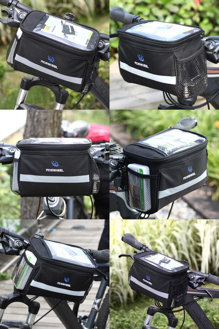 [Visit to Buy] MTB Road Bicycle Bike Bags Touch Screen Cycling Top Front Tube Frame Saddle Bags For Cell Phone Pack Cycling Accessories #Advertisement