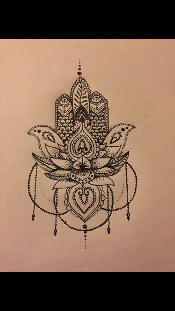 lotus tattoo und noch mehr lotus hamsa lotus tätowierungen tattoo ...