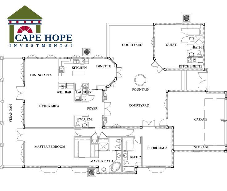 d484f8fff2de4f000f1d2506510ca9db spanish style homes spanish house 164 best courtyard images on pinterest,Spanish House Floor Plans