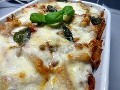 Pasta ovenschotel met gehakt en courgette