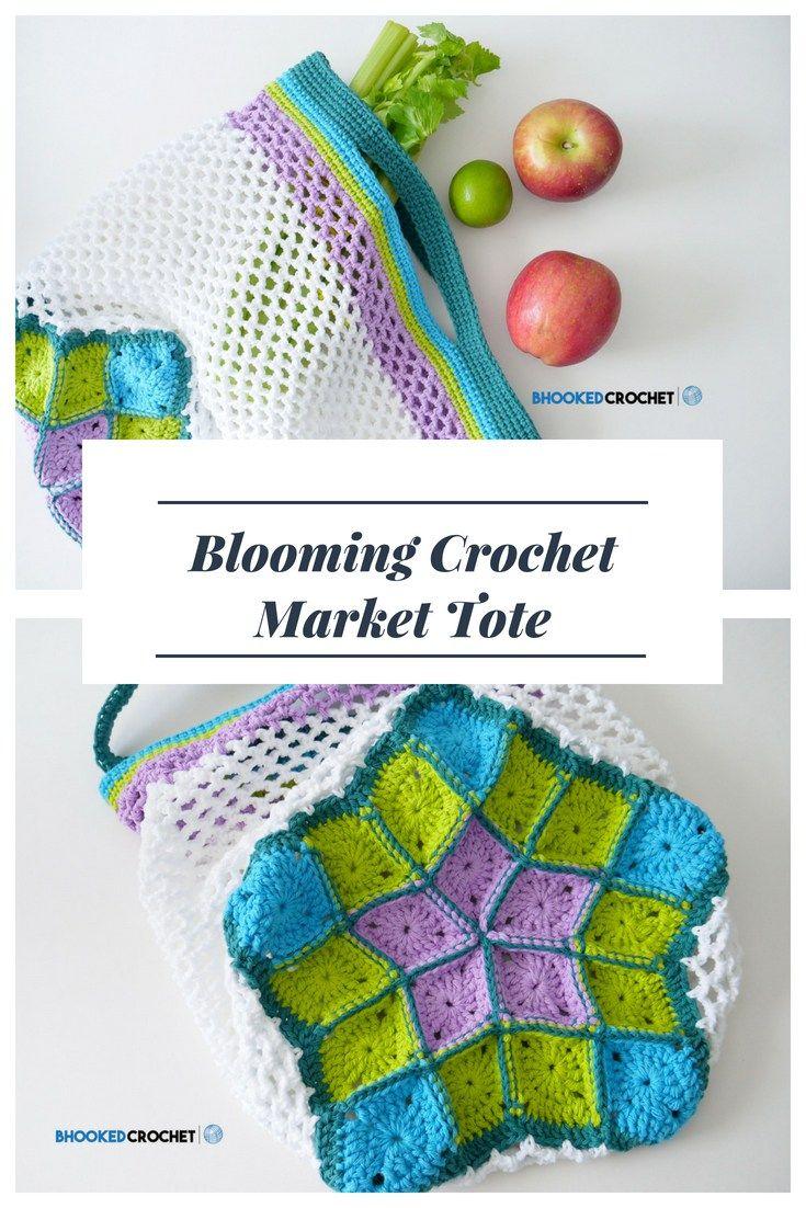 Blooming Crochet Market Bag Spring Crochet Patterns Tutorials