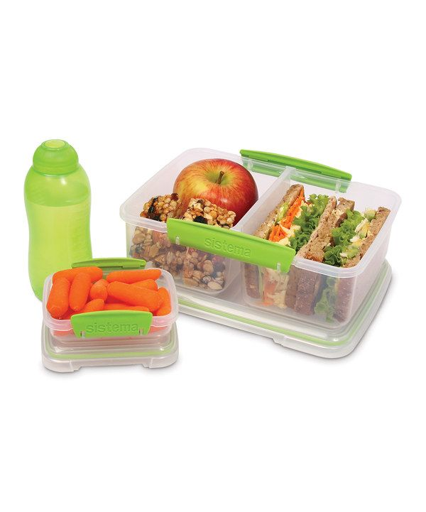 Loving this Sistema Green ThreePiece Lunch Box Container