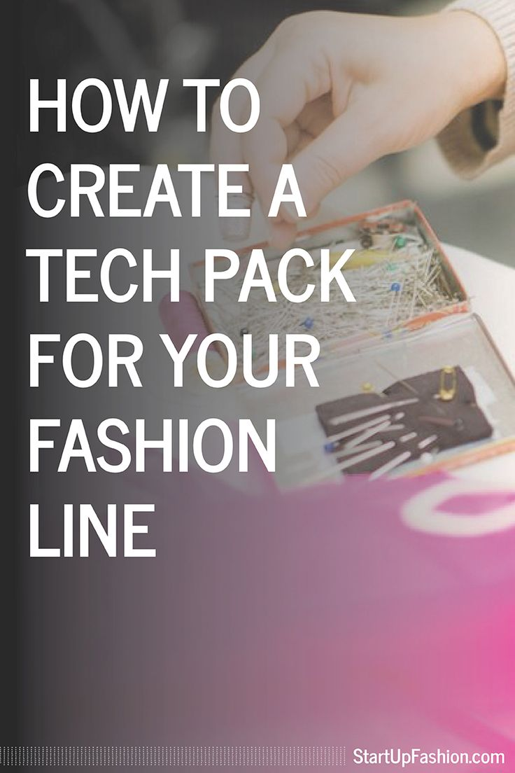 how to create a tech pack