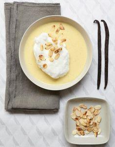 Oeufs à la neige, crème à la vanille