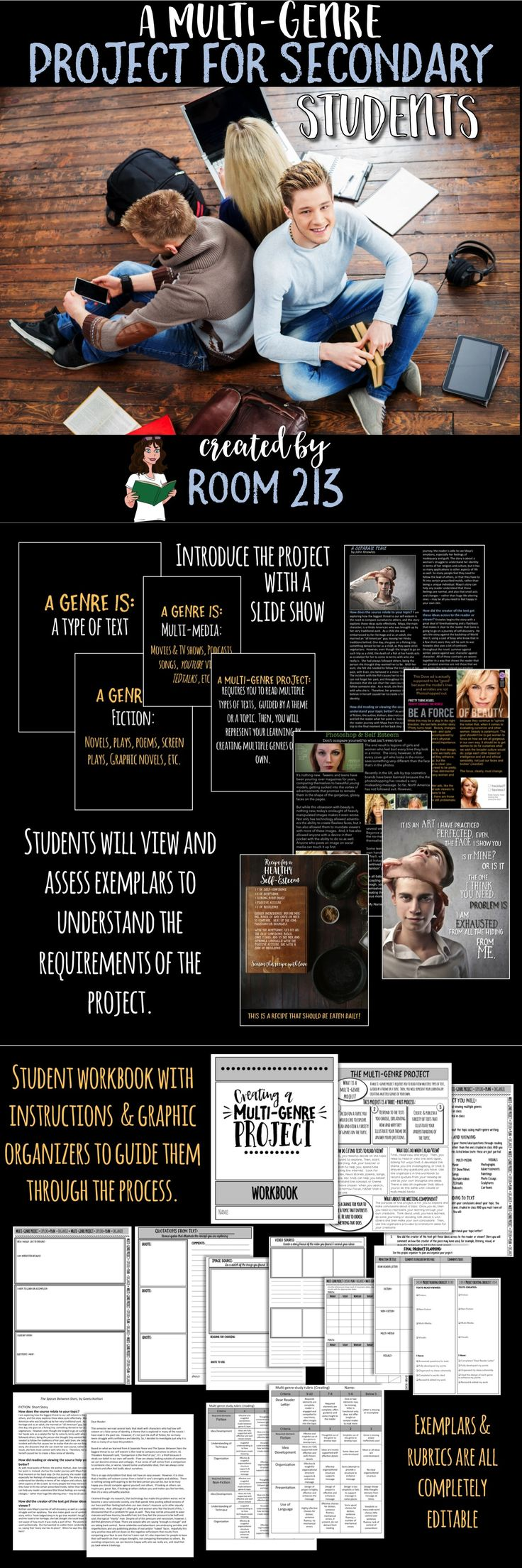 Try a multi-genre project with your students. You will get engaged students AND interesting products to mark!