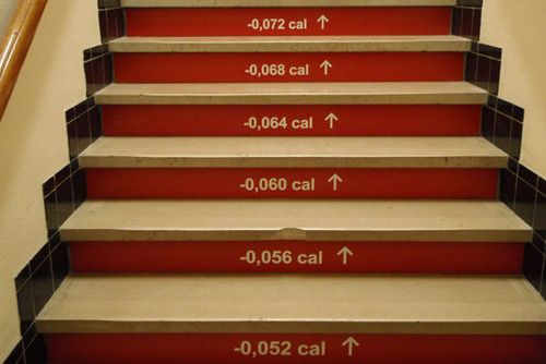 This type of signage would be perfect for our wellness committee stair project