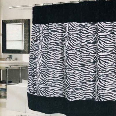 Shower curtain idea, add to top and bottom of favorite fabric