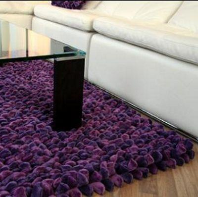Dreamweavers G Purple Chamois Pebble Rug