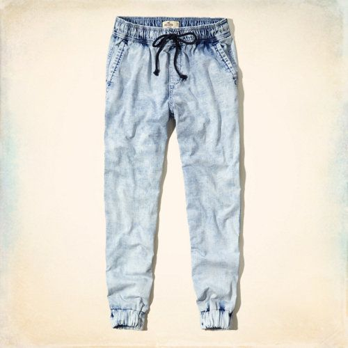 Hollister Denim Jogger Pants theese are soooo adorable