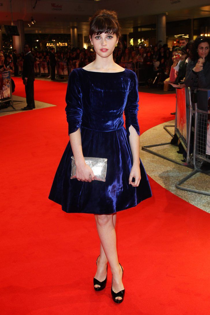 Pin for Later: Felicity Jones Is Never Going to Run Out of Beautiful Dresses At the World Premiere of Chalet Girl in February 2011