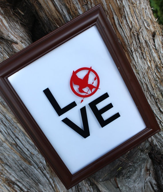 Vinyl Decal  Hunger Games inspired LOVE by PerfectlyAligned, $4.50