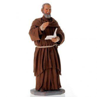 Padre Pio presepe napoletano statua terracotta 30 cm | vendita online su HOLYART