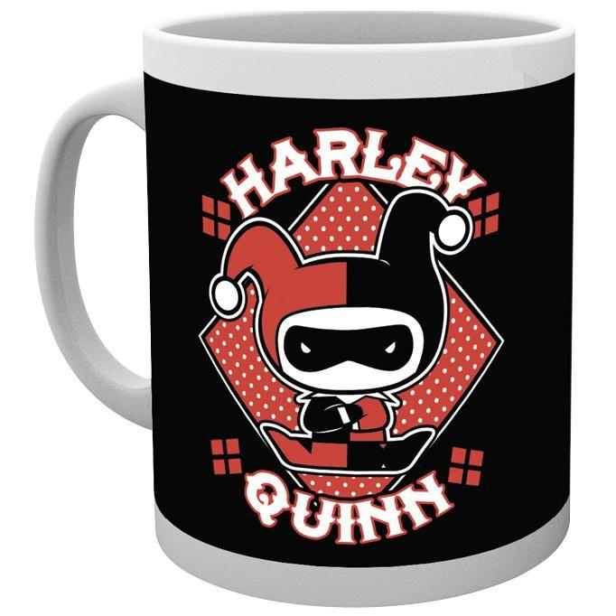 """Tazza in ceramica """"Harley Quinn Chibi"""" di Batman con stampa."""