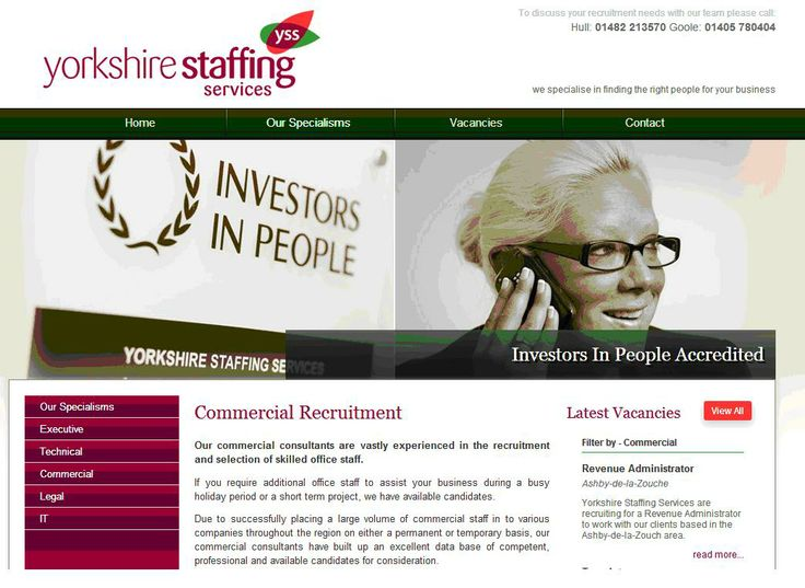 Yorkshire Staffing Services are Investors in People