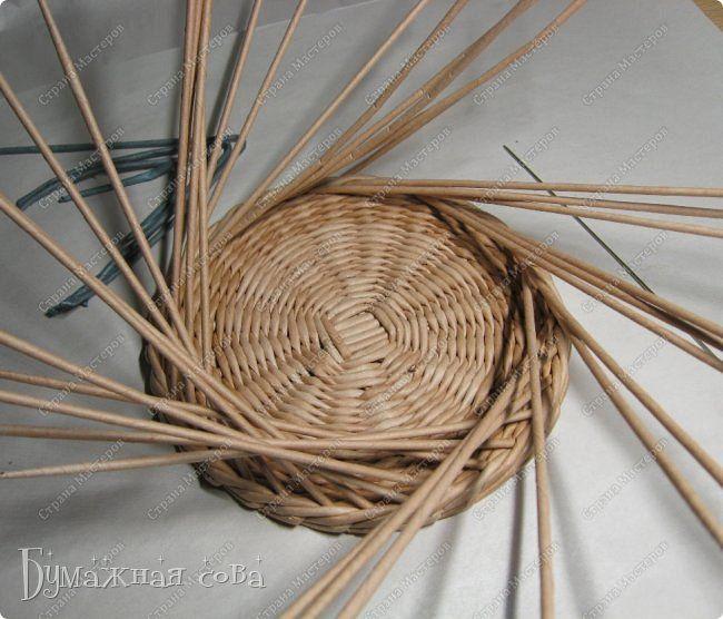 Мастер-класс Поделка изделие Плетение МК - шкатулка из бумаги 2 Бумага газетная Трубочки бумажные фото 31