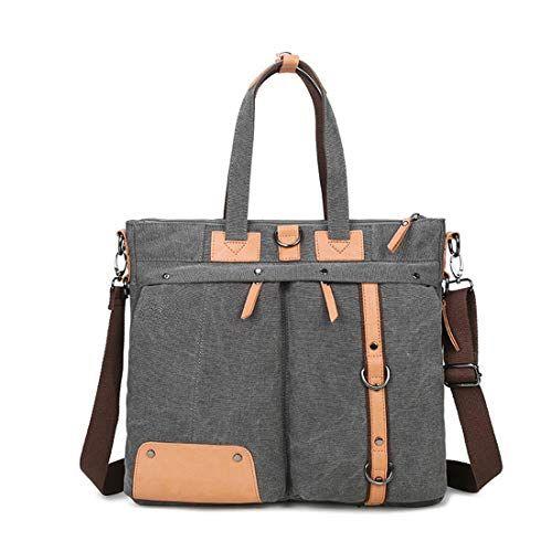 KRPENRIO Casual Zipper Waterproof Mens Outdoor Canvas Messenger Bag Shoulder Bag Color : Light Brown
