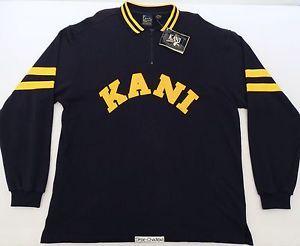 Nwt vtg 90s karl kani jeans varsity rugby polo shirt og hip hop tupac  biggie nos